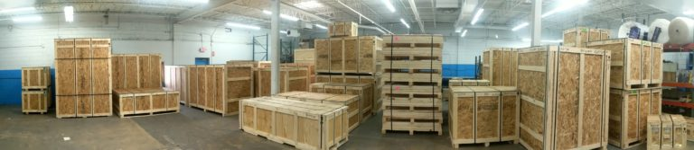 Finished shipping crates.